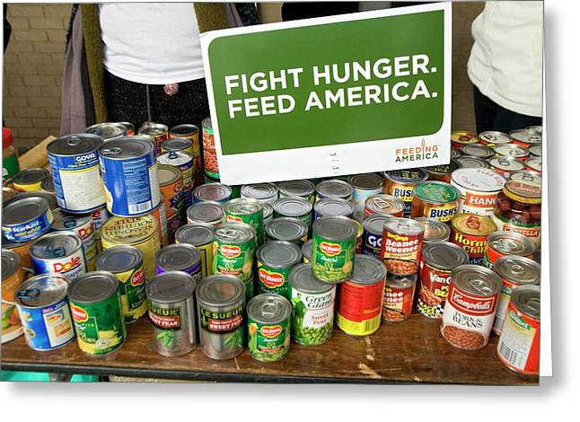 Canned Goods For Food Banks Greeting Card by Jim West