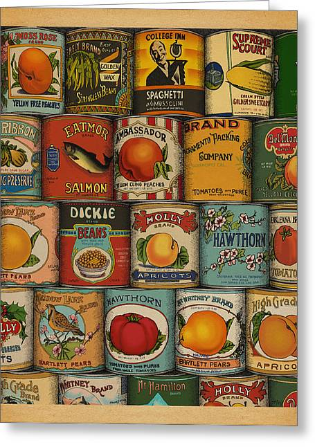 Can Greeting Cards - Canned Greeting Card by Meg Shearer