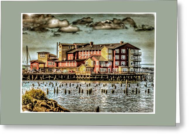 Canvas Art Prints Greeting Cards - Cannery Pier Hotel Greeting Card by Thom Zehrfeld