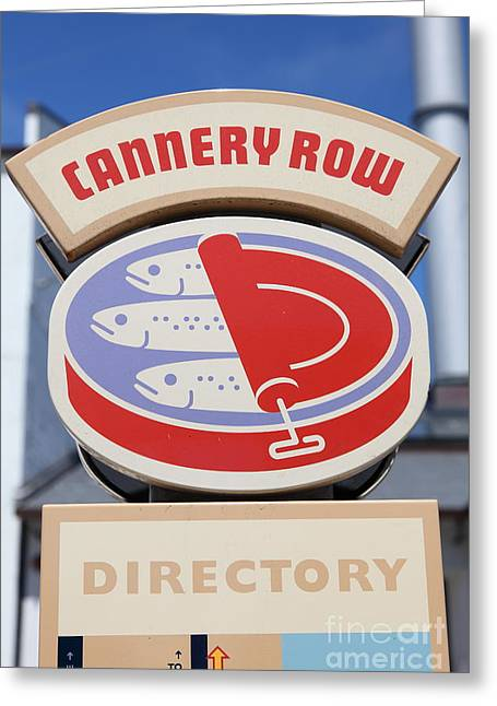 Monterey Canning Company Greeting Cards - Cannery Row Directory At The Monterey Bay Aquarium California 5D25020 Greeting Card by Wingsdomain Art and Photography