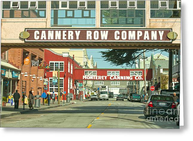 Cannery Row Monterey California Greeting Card by Artist and Photographer Laura Wrede