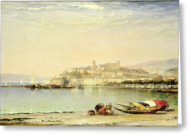 South Of France Paintings Greeting Cards - Cannes, 1897 Greeting Card by Arthur Joseph Meadows