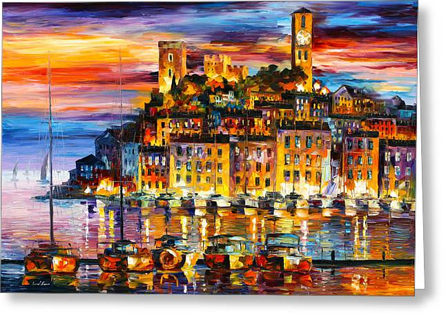 Cannes France Greeting Card by Leonid Afremov