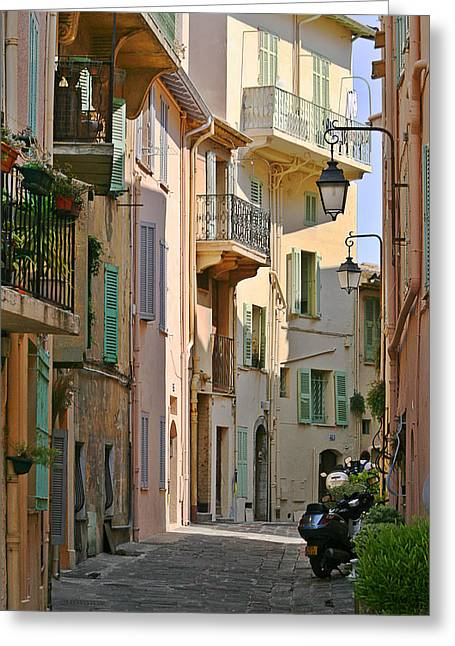 Alleys Greeting Cards - Cannes - Le Suquet - France Greeting Card by Christine Till