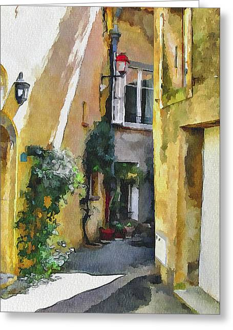 Old Town Digital Art Greeting Cards - Cannes Mougins 3 Greeting Card by Yury Malkov