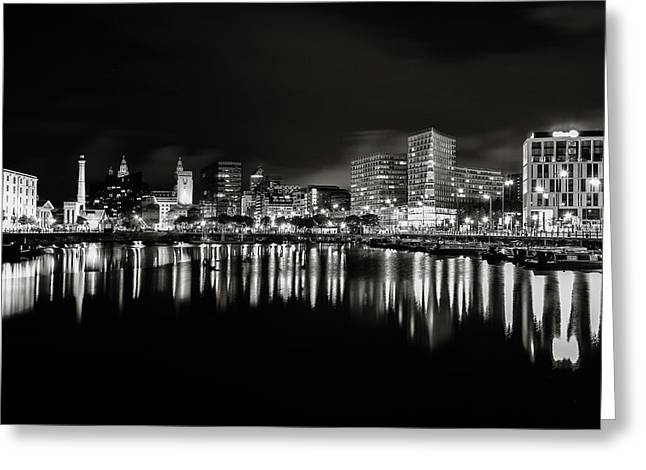 The Big Three Greeting Cards - Canning Dock Liverpool Greeting Card by Wayne Molyneux