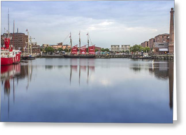 Tall Ships Greeting Cards - Canning Dock reflections Greeting Card by Paul Madden
