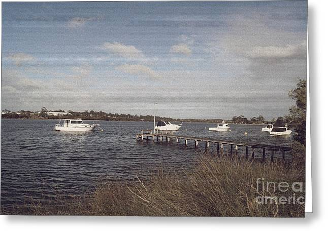 Stainglass Greeting Cards - Canning River III Greeting Card by Cassandra Buckley