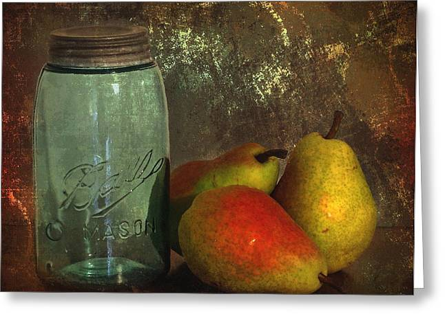Canning Jar Greeting Cards - Canning Season Greeting Card by Angie Vogel