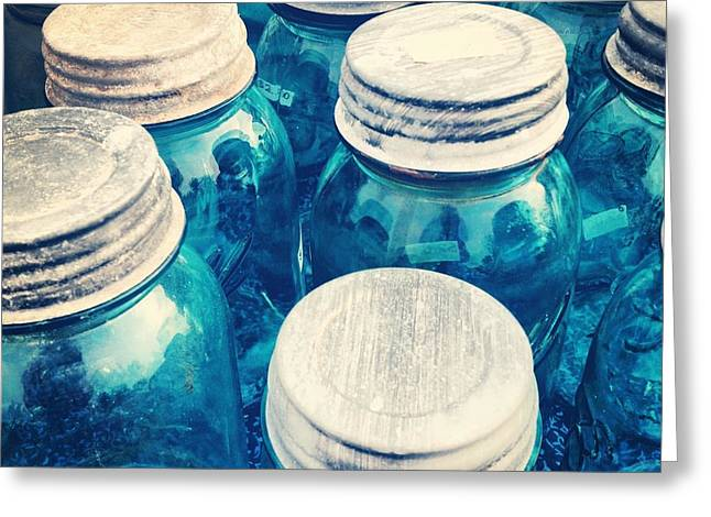 Jars Greeting Cards - Canning Time Greeting Card by Jeff Klingler