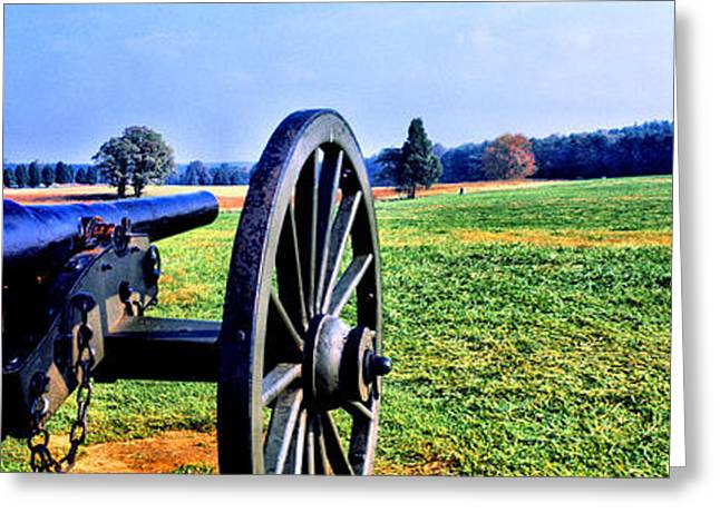 Civil Greeting Cards - Cannon At Manassas National Battlefield Greeting Card by Panoramic Images