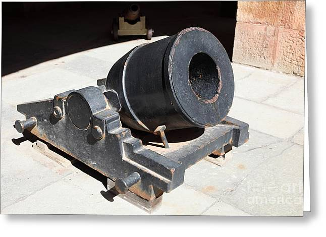 Armory Greeting Cards - Cannon at San Francisco Fort Point 5D21489 Greeting Card by Wingsdomain Art and Photography