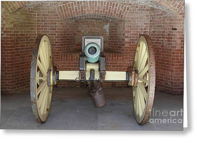 Armory Greeting Cards - Cannon at San Francisco Fort Point 5D21490 Greeting Card by Wingsdomain Art and Photography