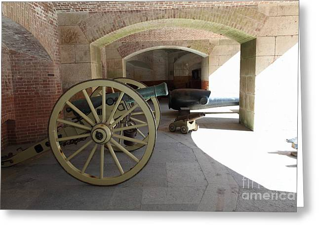 Armory Greeting Cards - Cannon at San Francisco Fort Point 5D21495 Greeting Card by Wingsdomain Art and Photography