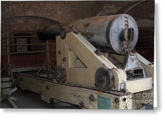 Armory Greeting Cards - Cannon at San Francisco Fort Point 5D21499 Greeting Card by Wingsdomain Art and Photography