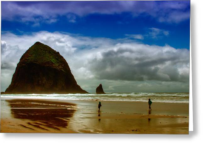 Ocean Scenes Greeting Cards - Cannon Beach at Dusk II Greeting Card by David Patterson