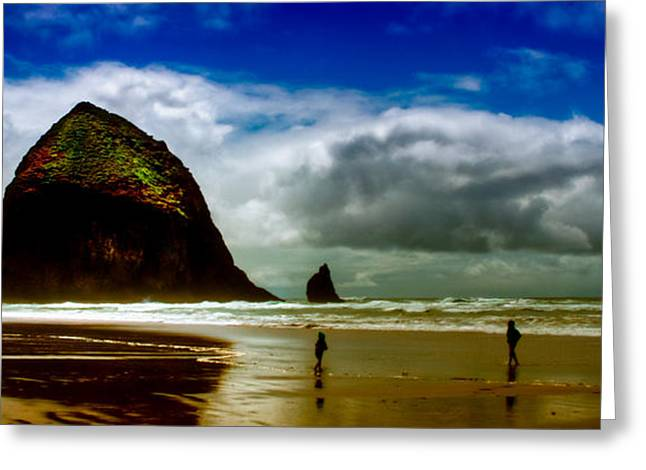 Best Sellers -  - Monolith Greeting Cards - Cannon Beach at Dusk III Greeting Card by David Patterson