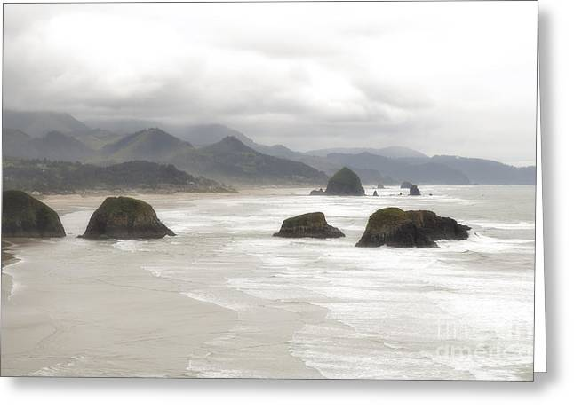 Haystack Framed Prints Greeting Cards - Cannon Beach Dreamy Coast Greeting Card by Andrea Hazel Ihlefeld