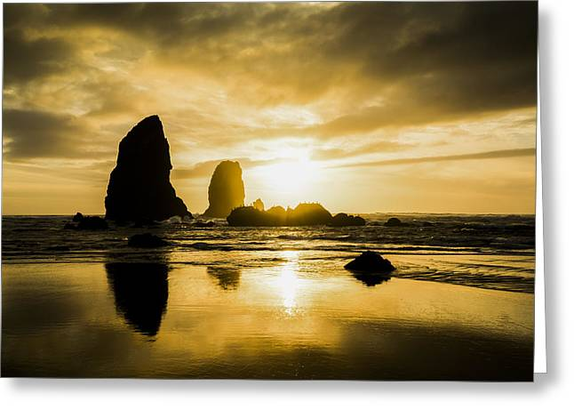 Cannon Beach Greeting Cards - Cannon Beach Greeting Card by Peter Irwindale