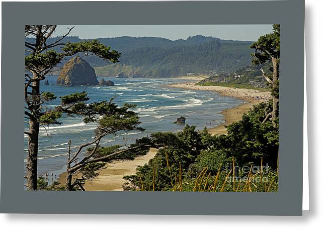 Nikkor Greeting Card featuring the photograph Cannon Beach Seascape by Nick  Boren