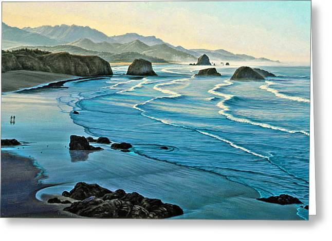 Cannon Beach Greeting Cards - Cannon Beachcombers Greeting Card by Paul Krapf