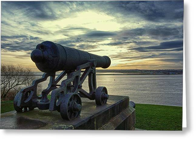 Collingwood Greeting Cards - Cannon Greeting Card by David Pringle