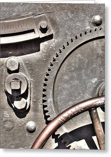 Monjuic Greeting Cards - Cannon Gear Greeting Card by John Magyar Photography