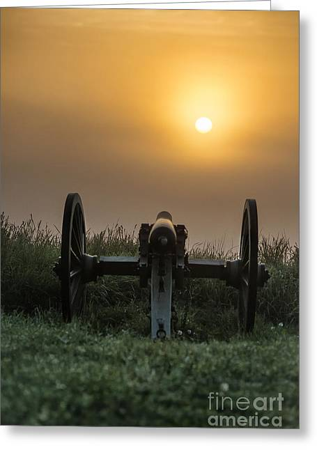 Confederate Monument Greeting Cards - Cannon on Cemetery Hill Gettysburg Greeting Card by John Greim