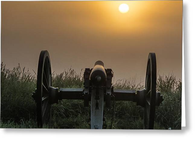 Cannon on Cemetery Hill Gettysburg Greeting Card by John Greim