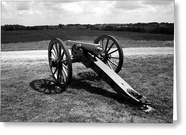 States Tapestries - Textiles Greeting Cards - Cannon Overlooking Battlefield - Perryville KY Greeting Card by Thia Stover
