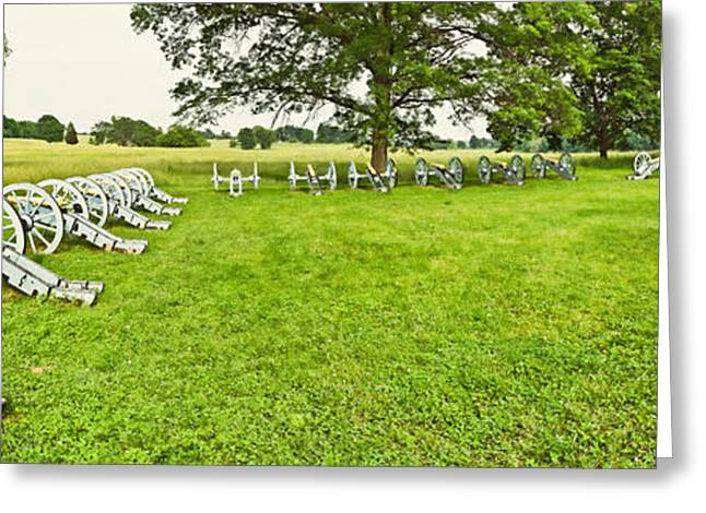 Forged Greeting Cards - Cannons In A Park, Valley Forge Greeting Card by Panoramic Images