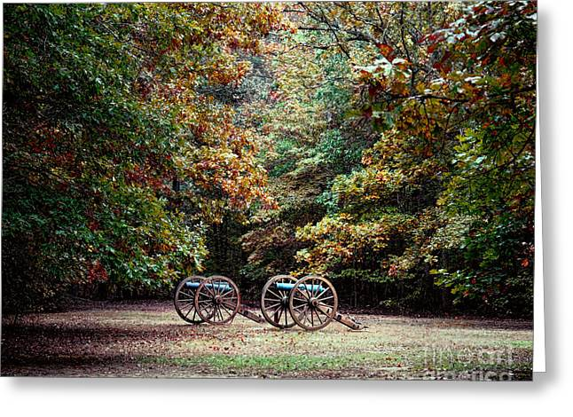 Photos Of Autumn Greeting Cards - Cannons in the Clearing Greeting Card by Jai Johnson