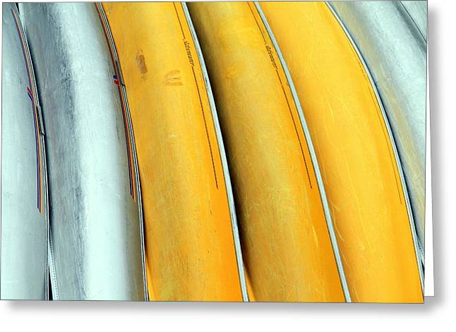 Canoe Greeting Cards - Canoe Abstract Greeting Card by Valentino Visentini