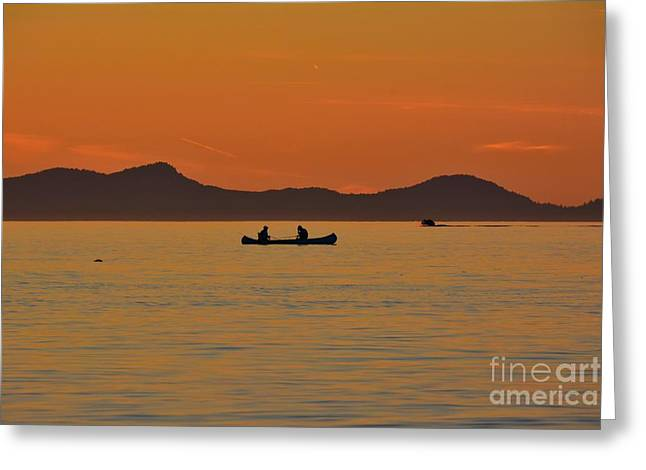 Beach Greeting Cards - Canoe Greeting Card by Elmar Langle