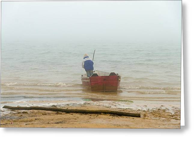Montebello Greeting Cards - Canoe in Bad Weather Greeting Card by Jess Kraft