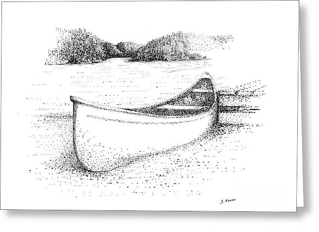 Canoe on the beach Greeting Card by Steve Knapp