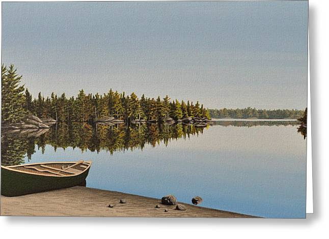 Canoe The Massassauga Greeting Card by Kenneth M  Kirsch