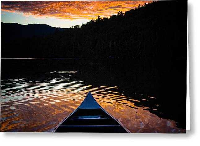Canoe Photographs Greeting Cards - Canoe View Greeting Card by Geoffrey Baker