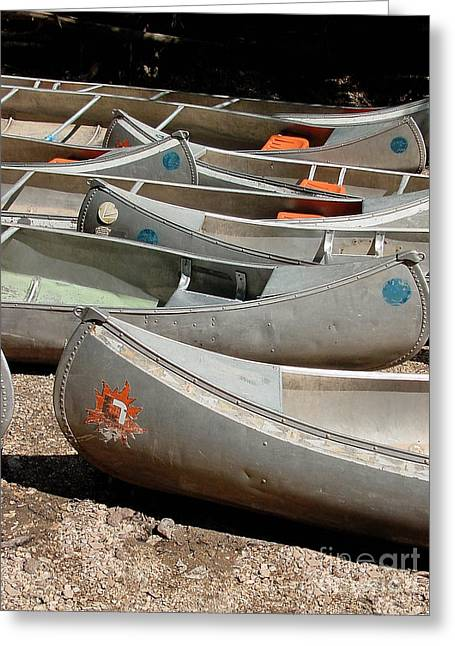 Canoe Photographs Greeting Cards - Canoes 143 Greeting Card by Gary Gingrich Galleries