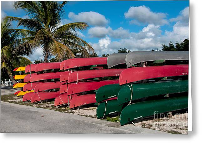Canoe Photographs Greeting Cards - Canoes, Florida Greeting Card by Mark Newman