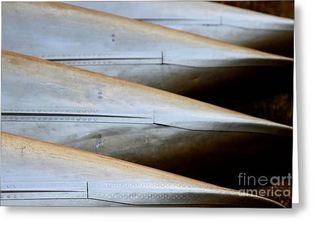 Canoe Greeting Cards - Canoes Greeting Card by Heidi Piccerelli