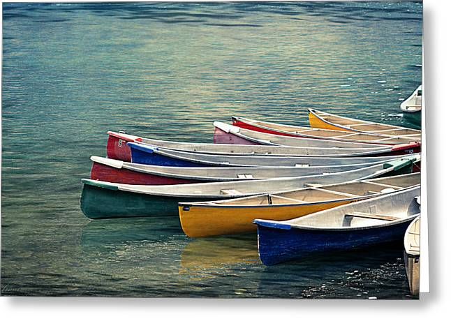 Canoes  Greeting Card by Maria Angelica Maira
