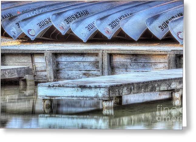 Scenic Drive Greeting Cards - Canoes Ready for Dispatch Greeting Card by Twenty Two North Photography