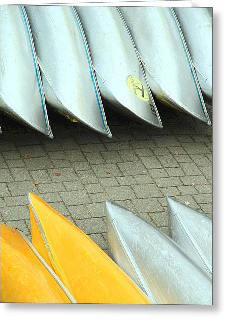 Canoe Greeting Cards - Canoes Greeting Card by Valentino Visentini