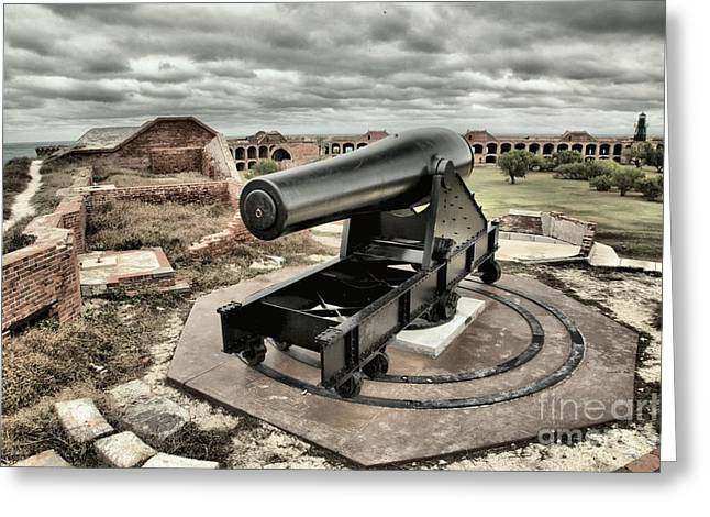 Dry Tortugas National Park Greeting Cards - Canon Fire 360 Greeting Card by Adam Jewell