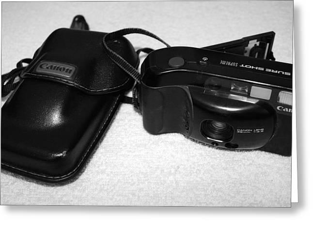 Camera Pyrography Greeting Cards - Canon Sureshot Supreme Greeting Card by DUG Harpster