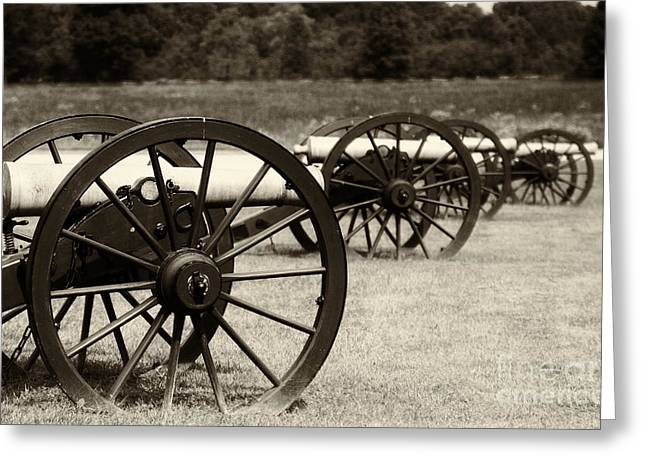Pea Ridge Greeting Cards - Canons at Pea Ridge Greeting Card by Pam  Holdsworth