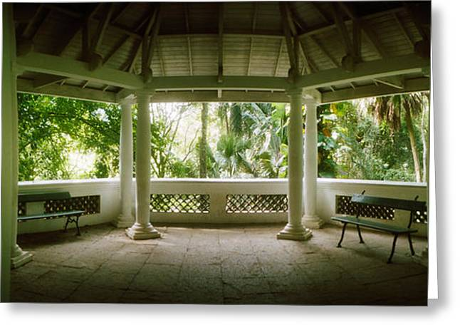 Garden Scene Photographs Greeting Cards - Canopy In The Botanical Garden, Jardim Greeting Card by Panoramic Images