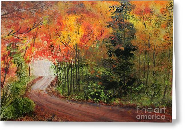 Canopy Of Colors Greeting Card by Jack G  Brauer