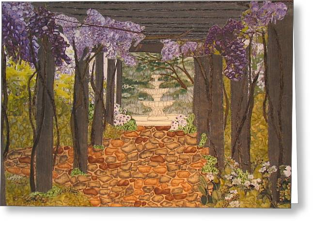 Serenity Tapestries - Textiles Greeting Cards - Canopy of Serenity Greeting Card by Anita Jacques